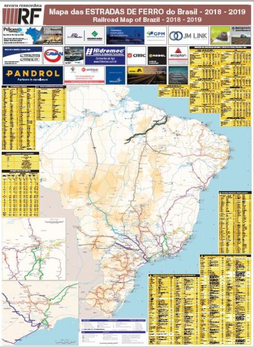 Mapa das Estradas de Ferro do Brasil