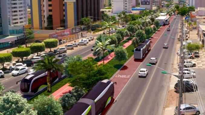 Plano de integração do transporte coletivo e BRT às prefeituras de Cuiabá e VG — Foto: Divulgação