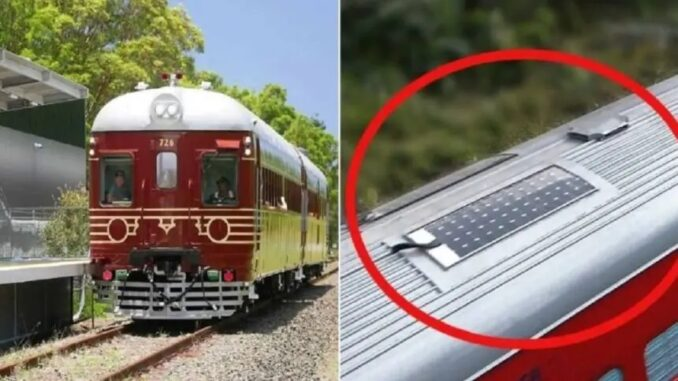 Trem movido a energia solar: Créditos da imagem: Razões para acreditar