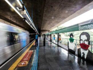 Plataforma da estação Sumaré do Metrô, na linha 2 (Verde). Foto: Werther Santana / Estadão