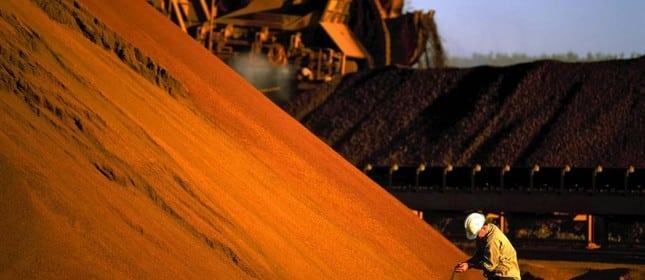 Minério de ferro na China: contratos futuros sobem quase 10%   AFP