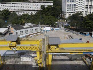 As obras da Estação Gávea da linha 4 do metrô estão paradas desde 2015 Reginaldo Pimenta / Agência O DIA