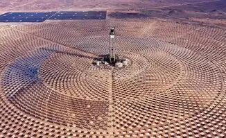 BTG participou do projeto da usina termossolar Cerro Dominador, no Deserto do Atacama Foto: AFP