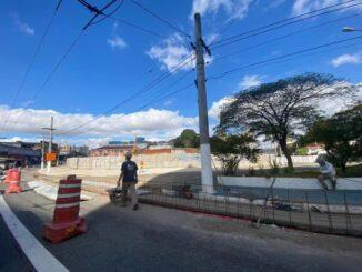 Canteiro de obras na Vila Formosa das obras de expansão da Linha 2 - Verde. Foto: Secretaria dos Transportes Metropolitanos