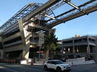 Futura estação Campo Belo da Linha 17-Ouro. Foto: Diário do Transporte
