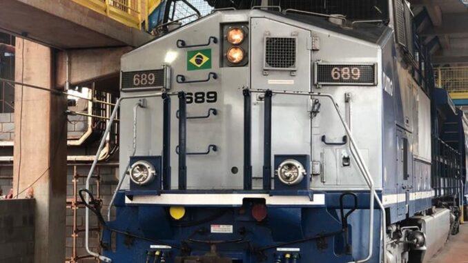 Vagão no terminal de Rio Verde, em Goiás — Foto: Divulgação/Rumo