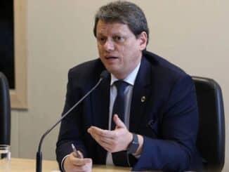 O ministro da Infraestrutura, Tarcísio de Freitas Foto: Fábrio Rodrigues Pozzebom/Agência Brasil