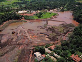 Barragem em Brumadinho se rompeu em 25 de janeiro de 2019. Foto: Douglas Magno/ AFP