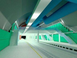 Projeção da estação Gávea do metrô, quando finalizada Reprodução