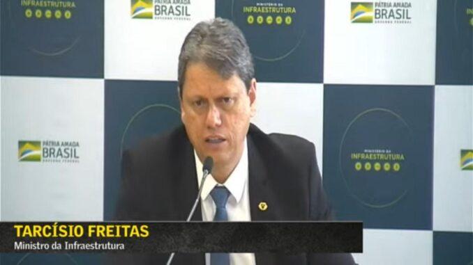 Tarcísio Freitas — Foto: Reprodução
