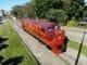 Locomotiva modelo B12, fabricada em 1953 pela EMD, foi reformada pela FTC em parceria com o Museu Ferroviário de Tubarão (SC). Foto: Divulgação/FTC