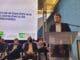 Ministro da Infraestrutura, Tarcísio de Freitas, durante a inauguração do Centro de Excelência em Tecnologia Ferroviária, em Anápolis (GO). Foto: Divulgação