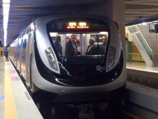 Trem da linha 4 do metro do Rio. Foto: Divulgação / Governo do Rio de Janeiro / Agência Brasil