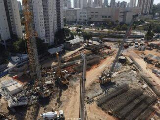 Canteiro de obras da futura estação Anália Franco, na capital paulista, que faz parte do lote de oito novas estações na expansão até a Penha. Foto: Divulgação / Metrô de São Paulo