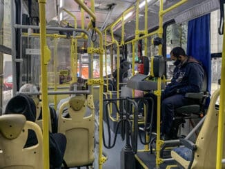Ônibus na cidade de São Paulo, onde a retomada da demanda foi maior - Karime Xavier/Folhapress