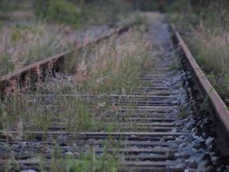 Linha de trem do Bairro Belvedere, no Centro-Sul de BH, pode ganhar revitalização - (foto: Gladyston Rodrigues/EM/D.A Press - 19/04/2012 )