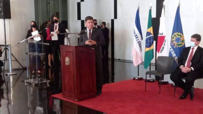 Senador Carlos Viana (PSD-MG) no lançamento do edital de concessão das BRs 381 e 262