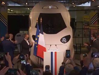 Macron revela nova geração de trens de alta velocidade — Foto: Reprodução/Instagram