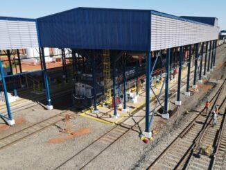 Posto de abastecimento de trens que começa a operar nesta sexta em Araraquara (Divulgação/Rumo)
