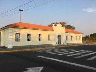 Estação ferroviária de Presidente Epitácio, agora restaurada. Foto Prefeitura/Divulgação.